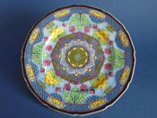 Early Royal Doulton Geometric 'Floral Pattern I' Series Rack Plate c1939 D4549